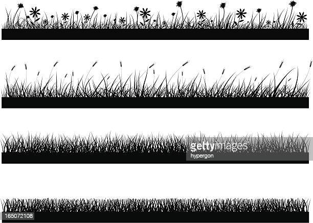 parallel lines of varying natural elements such as grass - field stock illustrations, clip art, cartoons, & icons