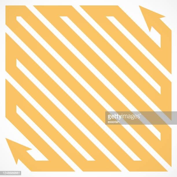 矢印の頭を持つ平行パス - 境界線点のイラスト素材/クリップアート素材/マンガ素材/アイコン素材