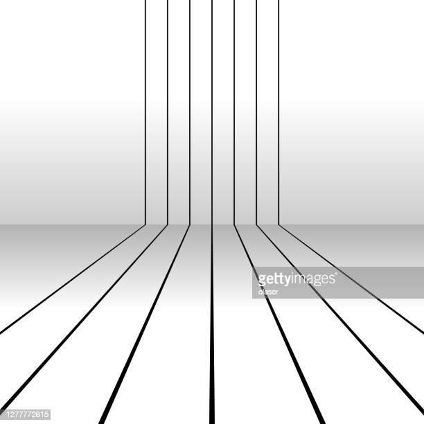 illustrazioni stock, clip art, cartoni animati e icone di tendenza di strisce parallele, passando un angolo come piste da corsa. effetto ombra. - profondo
