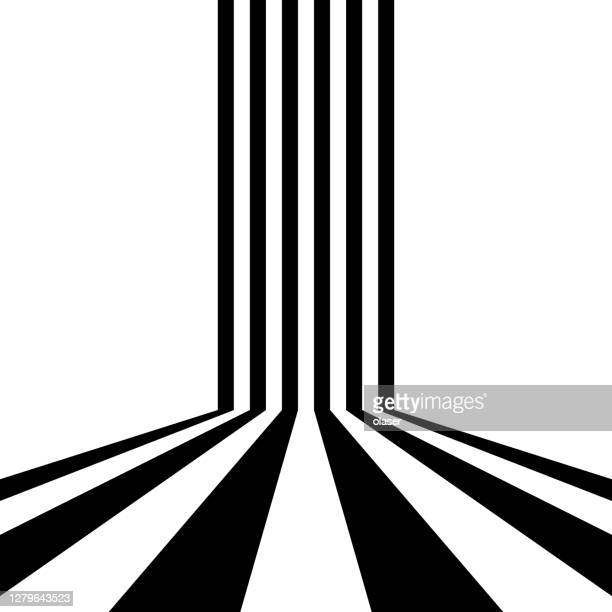 parallel stripes, passing a corner - parallel stock illustrations