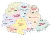 parana administrative map