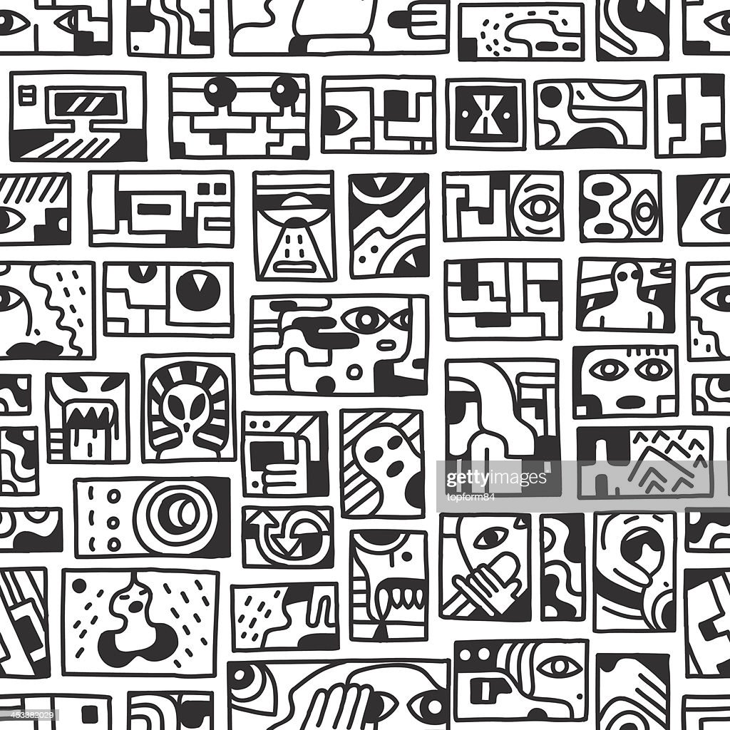 paranormal things, secret,crime - seamless vector background