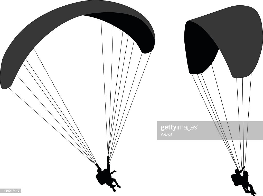 Parasailing Silhouettes Vector Art | Getty Images