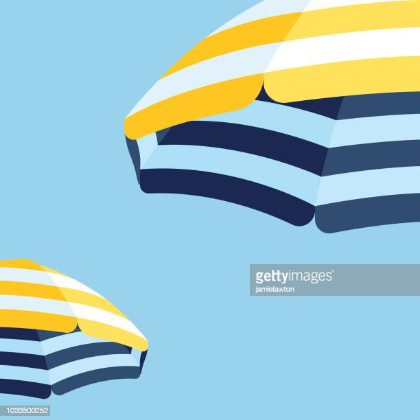 stockillustraties, clipart, cartoons en iconen met parasol beach paraplu achtergrond - summer