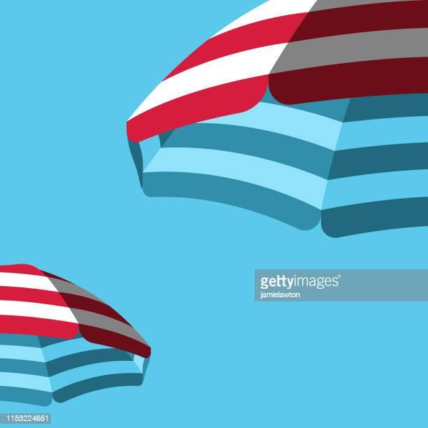 illustrations, cliparts, dessins animés et icônes de parasol fond de parapluie de plage - être à l'ombre