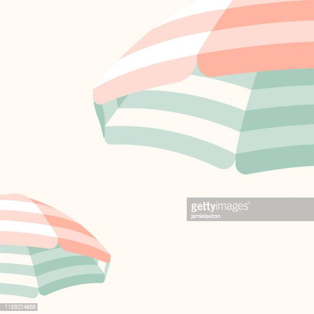 parasol beach umbrella background - mint green stock illustrations