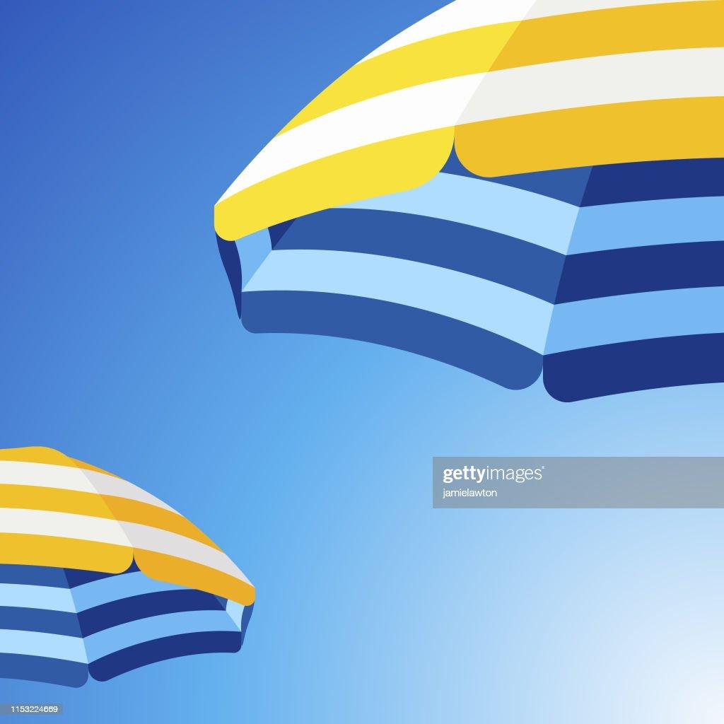 Parasol fond de parapluie de plage : Illustration