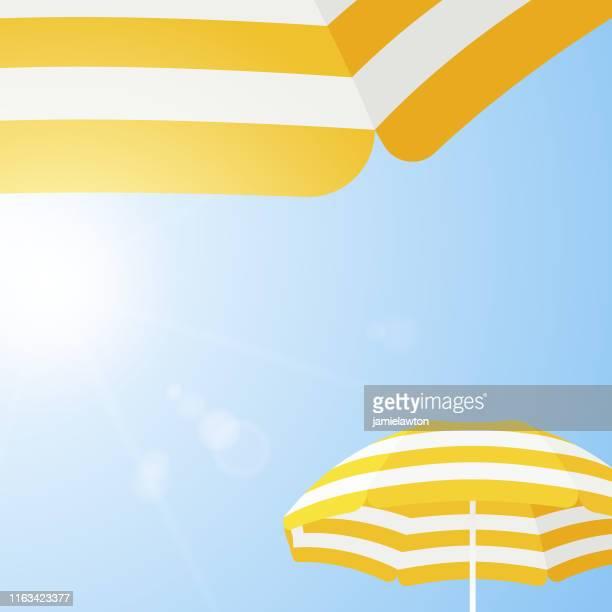 illustrations, cliparts, dessins animés et icônes de parasol beach parapluie contexte - parasol