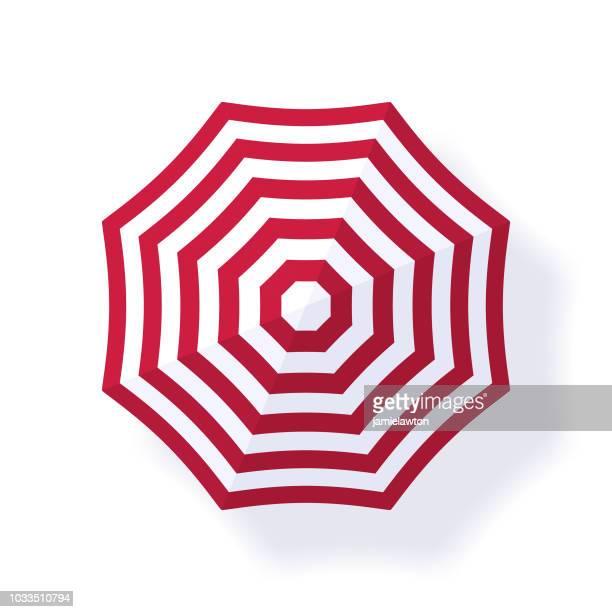 parasol beach umbrella - parasol stock illustrations