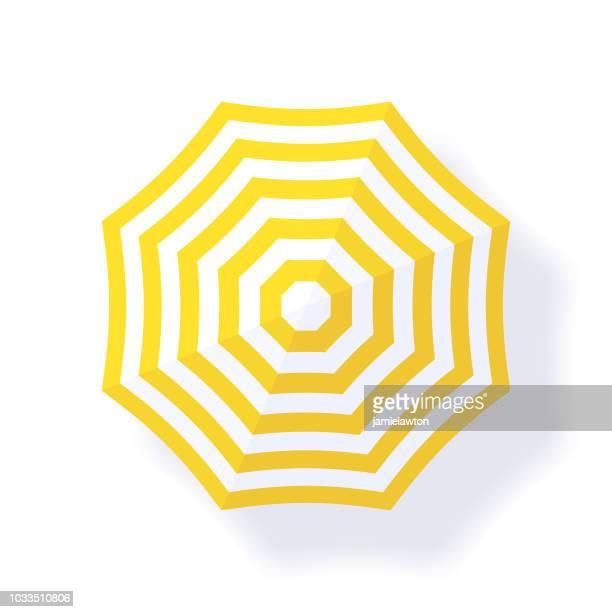ilustrações, clipart, desenhos animados e ícones de parasol guarda-sol - um único objeto