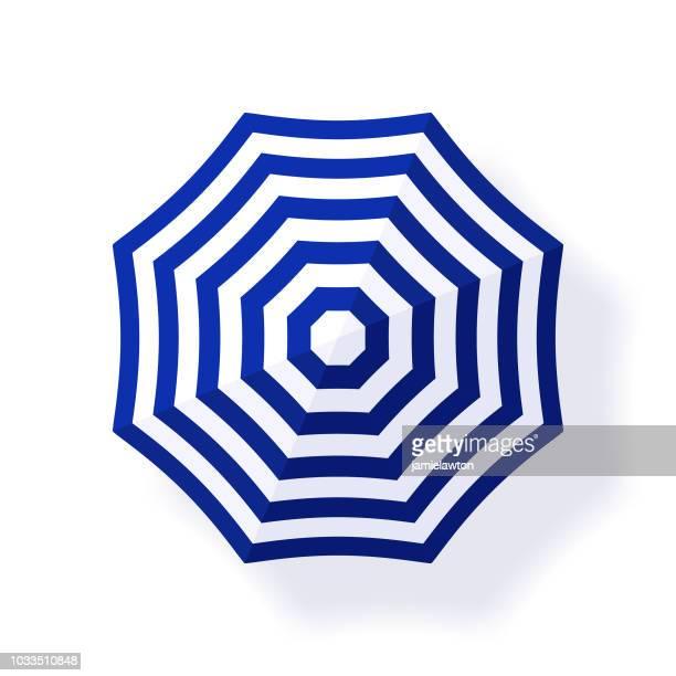 parasol beach umbrella - umbrella stock illustrations