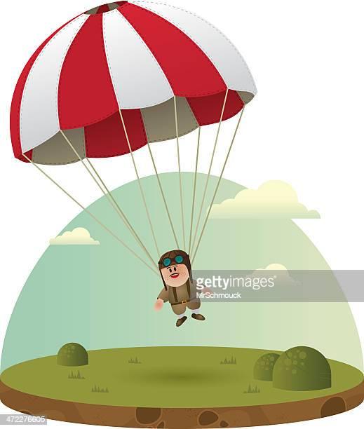paratrooper ! - paratrooper stock illustrations, clip art, cartoons, & icons