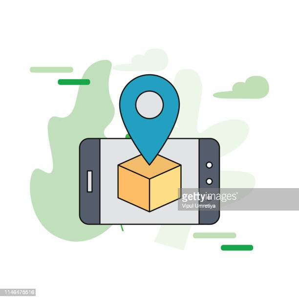 Parcel tracking website on smartphone screen.
