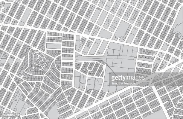 ilustrações, clipart, desenhos animados e ícones de parcelas 4 - mapa de rua