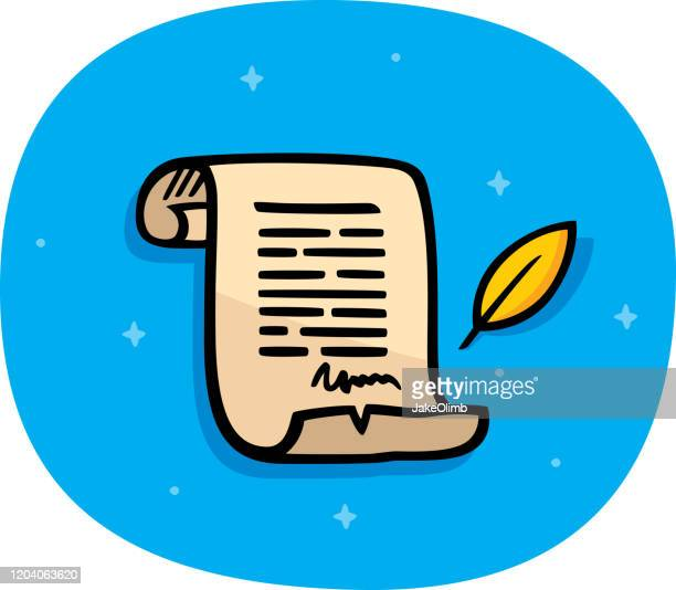 parchment doodle - constitution stock illustrations