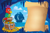 Parchment in pirate cave image 1