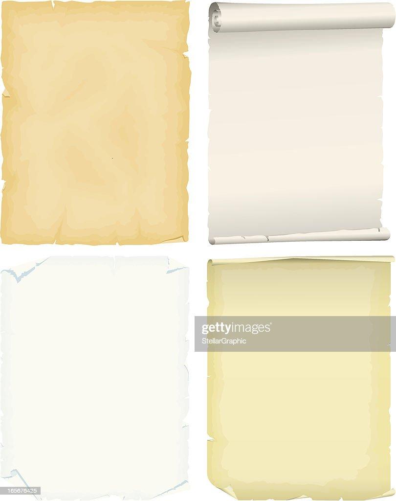 Parchment : stock illustration