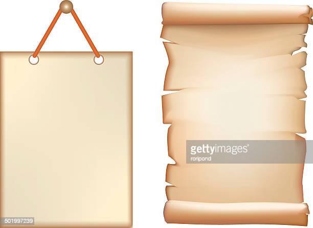 illustrazioni stock, clip art, cartoni animati e icone di tendenza di pergamena - carta da pacchi