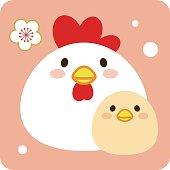 Parent and child of bird