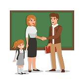 Parent and teacher