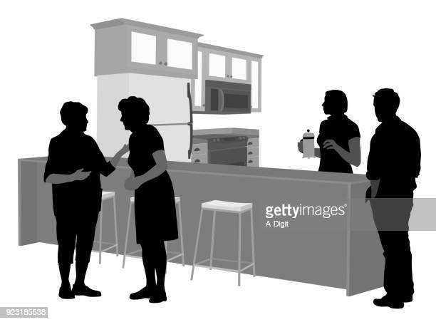 parents come for a visit - stool stock illustrations, clip art, cartoons, & icons