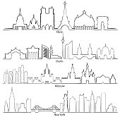 Paris, Berlin, Moscow and New York