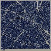 Paris city structure illustration