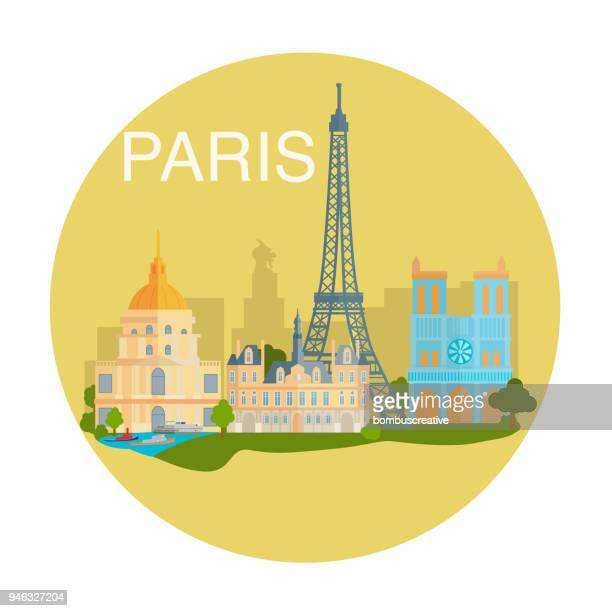 paris city - sydney opera house stock illustrations