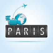 Paris departure board