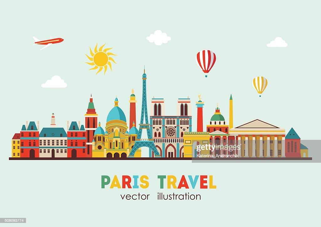 Paris detailed skyline. Vector illustration