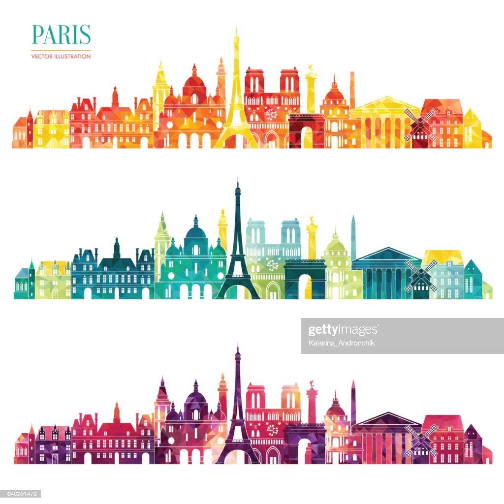 Paris detailed skyline. Vector illustration