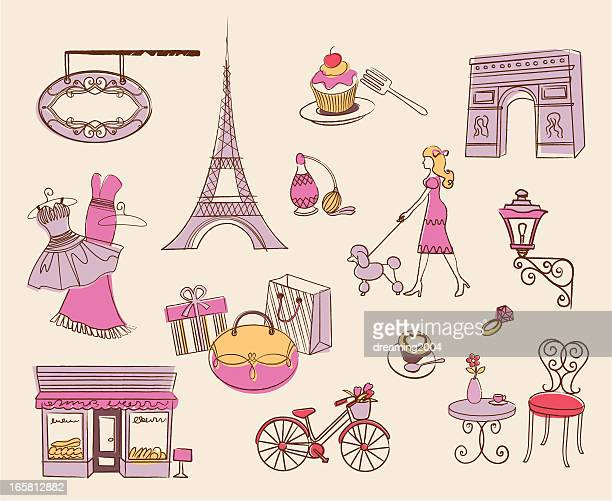 paris element design - nice france stock illustrations, clip art, cartoons, & icons