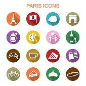 paris long shadow icons
