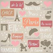 Paris retro pattern.