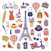 Paris Set with Romantic Travel Elements