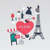 Paris tourism concept image