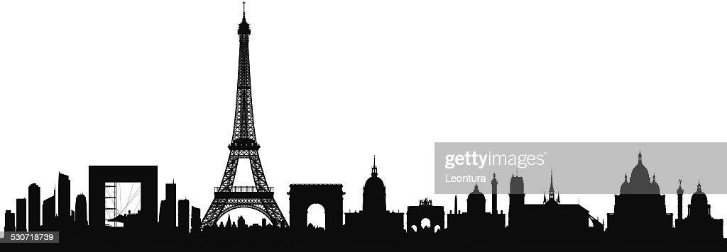 París (edificios puede trasladarse) : Ilustración de stock