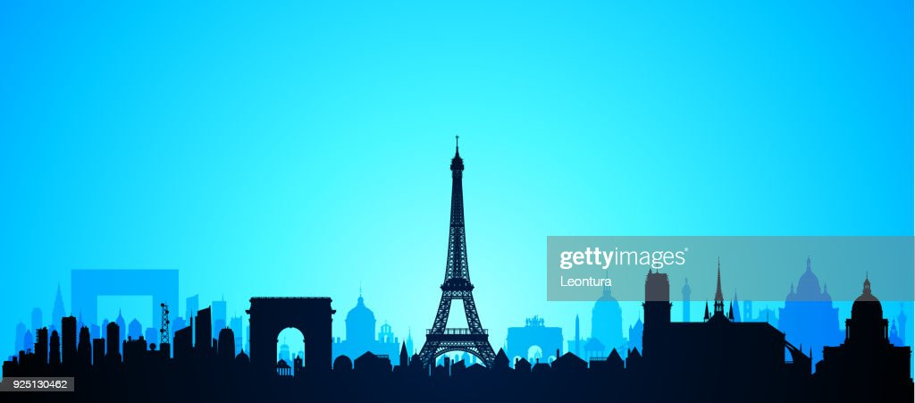 Paris (All Buildings Are Complete and Moveable) : stock illustration