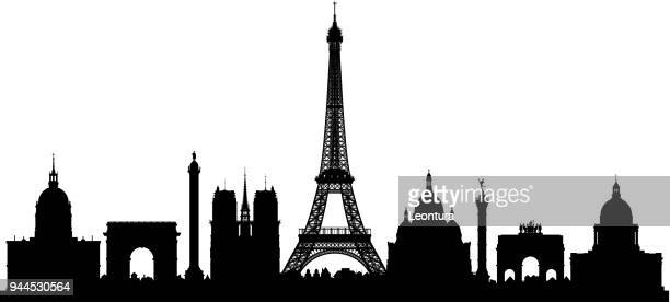 paris (all buildings are complete and moveable) - skyline stock illustrations