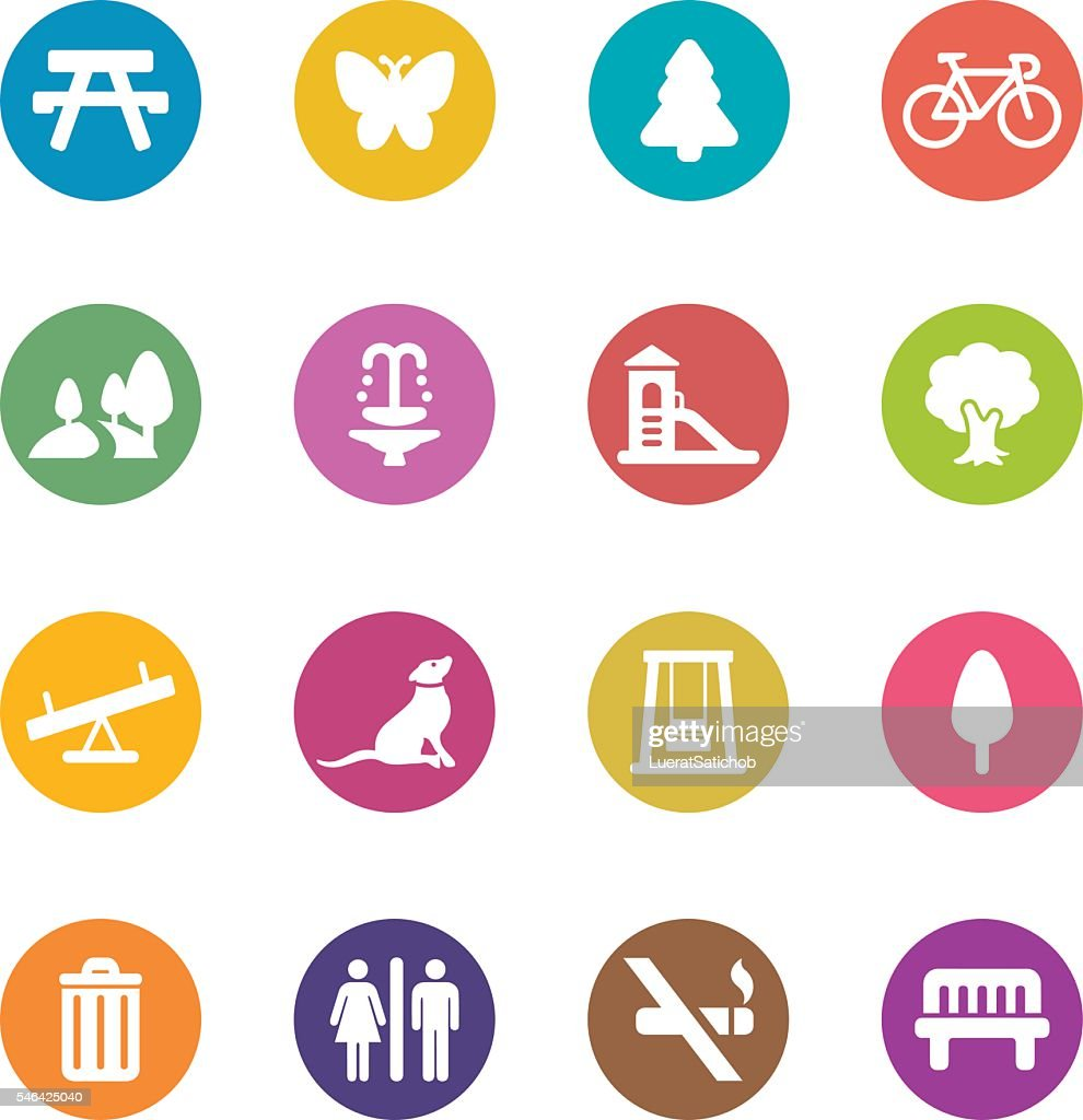 Park and Outdoor Colour Harmony icons | EPS10