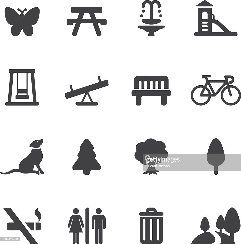 Park and Outdoor Silhouette icons | EPS10