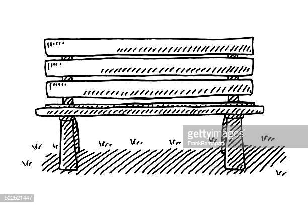 Park Bench Drawing