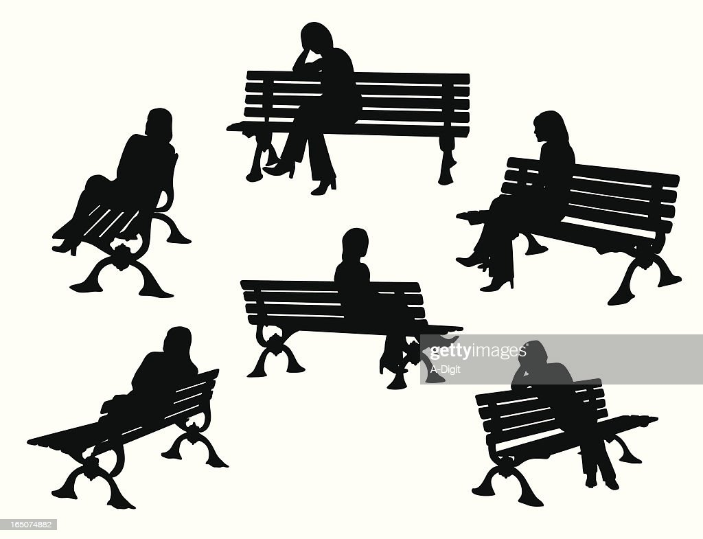 Terrific Worlds Best Park Bench Stock Illustrations Getty Images Squirreltailoven Fun Painted Chair Ideas Images Squirreltailovenorg