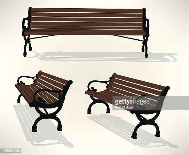 park bench - bench stock illustrations