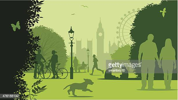 park life london - city of westminster london stock illustrations
