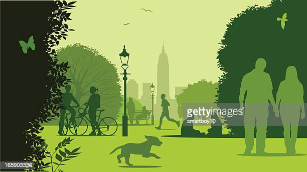 park life - new york - natural parkland stock illustrations, clip art, cartoons, & icons