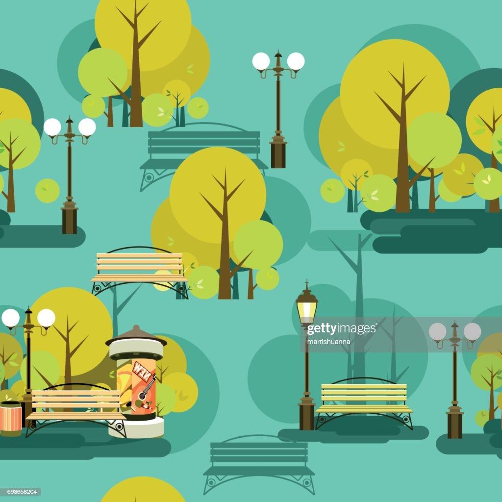 park seamless pattern