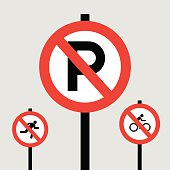 Park sign icon great for any use. Vector EPS10.