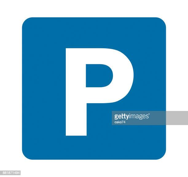 park signal vector illustration - parking sign stock illustrations