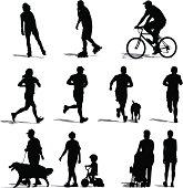 Park Vistors Exercising